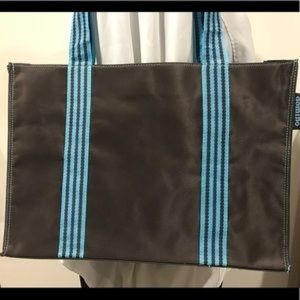 2 Domino chocolate brown totes